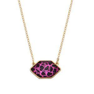 Fuchsia Animal Print Pendant Necklace